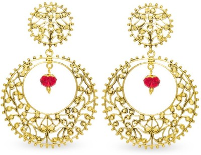 Big Tree Indian Charm Brass Dangle Earring