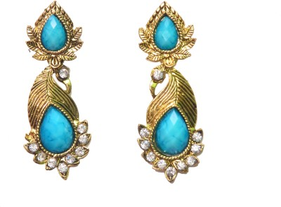 NM Products Blue Shine Copper Drop Earring
