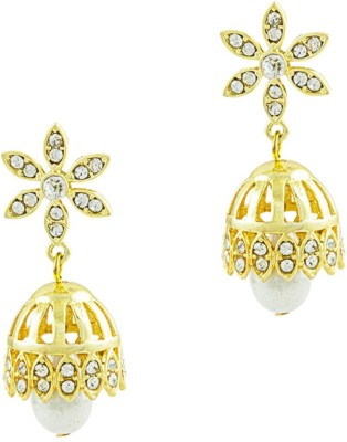 Savvy Finely Crafted Pearl Brass Jhumki Earring