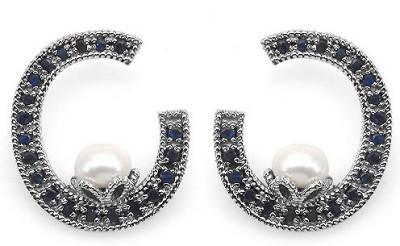 Johareez Beautiful Pearl Sterling Silver Stud Earring