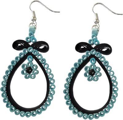 Designer's Collection Quilled Blue & Black Designer Paper Dangle Earring