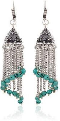 Kalaplanet German Silver Bali Metal Dangle Earring