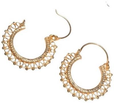 Gharaz Tiny gold plated bali Brass Hoop Earring
