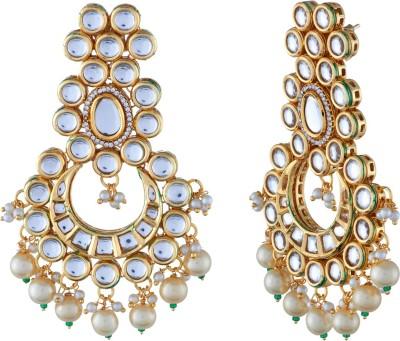 Tatva Kundan Copper Chandbali Earring