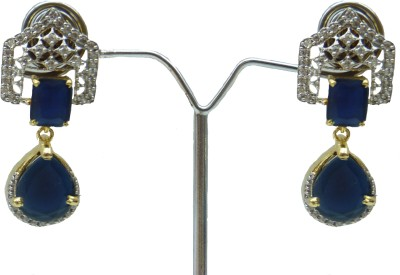 Aakhya EAR24B Diamond Rose Gold Drop Earring