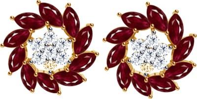 JacknJewel Vintage Gemstone Yellow Gold 18kt Diamond Stud Earring