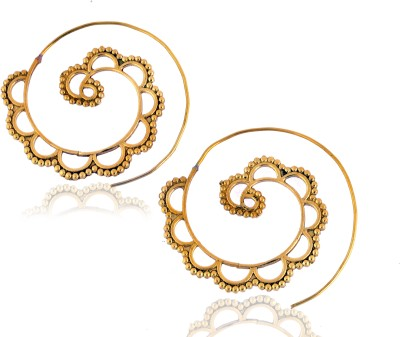 La Boemo Cosmic Swirl Brass Dangle Earring