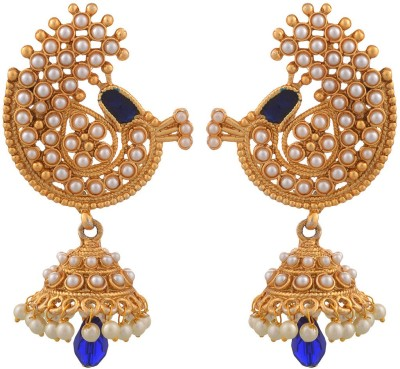 Blacksmith Gold Aura Crystal Metal Jhumki Earring