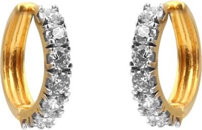 Jewel99 Spring Sparkle Swarovski Zirconia Gold Hoop Earring