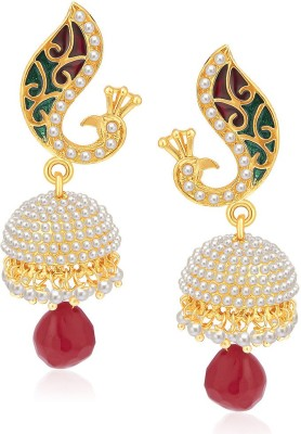 Sukkhi Dazzling Peacock Alloy Jhumki Earring at flipkart