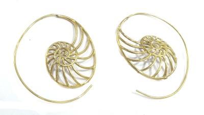 Gurjari Gold bali Bronze Cuff Earring