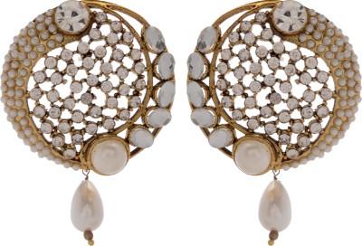 GENUINE MARKETING Alloy Dangle Quartz, Zircon Brass Drop Earring