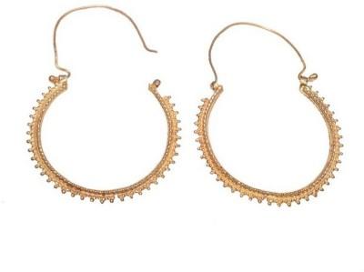 Gharaz Gold plated Bali Brass Hoop Earring