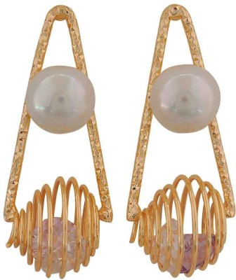 Maayra Class Indian Crystal Alloy Drop Earring