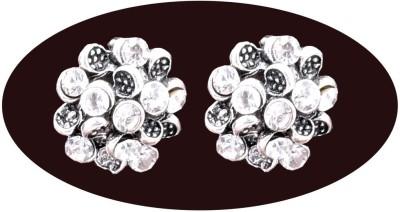 Indian Cheez Floral Dimaond Earrings Metal Earring Set