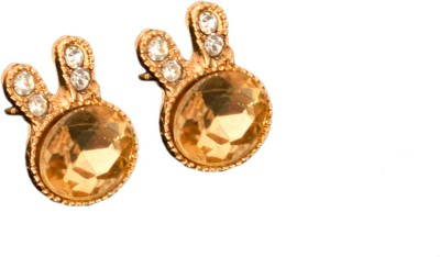Ak Zopping Collection Alloy Golden Crystal Earring Metal Stud Earring