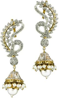 Paradise Spring Sparkle Brass, Copper Jhumki Earring