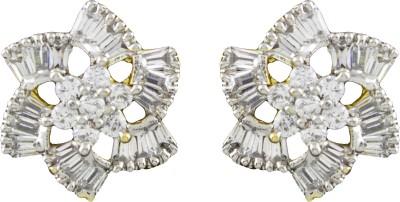 R18Jewels-Fashion&U Sparkling CZ Flower Cubic Zirconia Metal Stud Earring