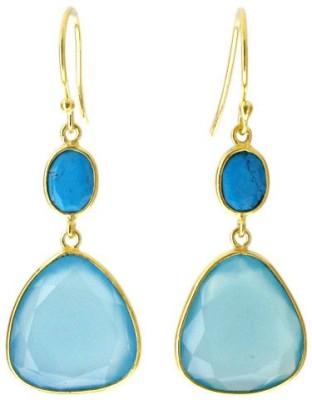 Aabhushan Aabhushajewels Turquoise, Chalcedony Sterling Silver Dangle Earring