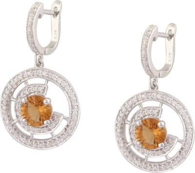 RR FOREVER Gemstone Citrine Silver Huggie Earring
