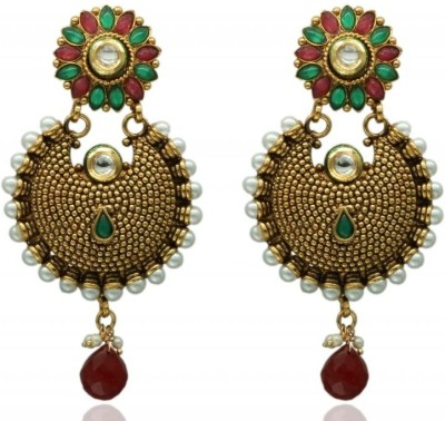 Siyora Designer Brass Dangle Earring