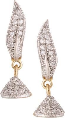 Fashionaya Diamond Flame Cubic Zirconia Alloy Jhumki Earring
