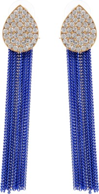 Sir Michele Spring Sparkle Metal Tassel Earring