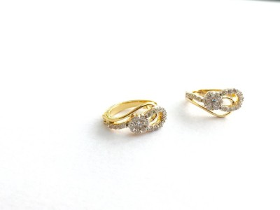 Arkina Diamonds Floral loop Yellow Gold 18kt Diamond Stud Earring