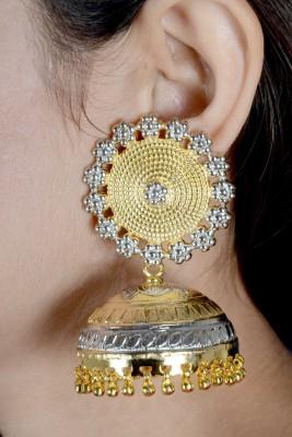 Aashirwad Gold Rhodium Jhumka Sterling Silver Jhumki Earring
