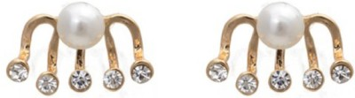 Young & Forever Princess Diamonte & Pearlicious Ear Jackets Alloy, Mother of Pearl Stud Earring