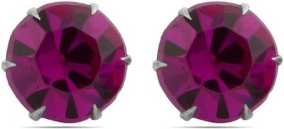 Gemshop Cool & Chic Pretty Magenta Pink Crystal Studs Alloy Stud Earring
