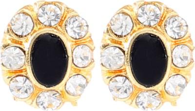 Shining Jewel Trendy Jet Earrings Brass Stud Earring