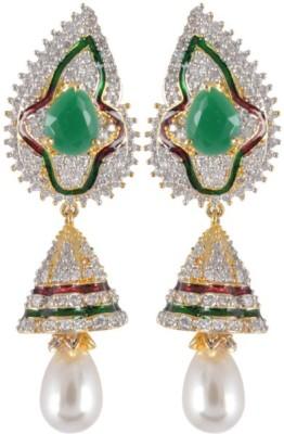 Waama Jewels Golden Brass Earring fancy wear on sleeping Girls jewellery Metal Earring Set