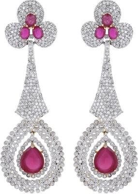 Dilan Jewels Ruby Chandelliers Zircon Alloy Drop Earring