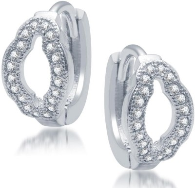 Sukkhi Gorgeous Micro Pave Cubic Zirconia Alloy Hoop Earring
