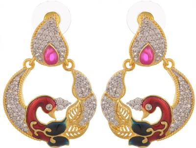 Bohocraft Diva Zircon Brass Drop Earring