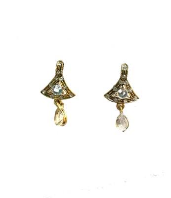 modifier White Triangle Alloy Drop Earring