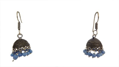 W Stop Garman Silver Crystal Brass Dangle Earring
