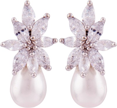 Jewel House Stylish Diva Cubic Zirconia Copper Drop Earring