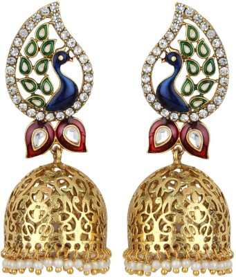Jewels Guru Diva style Zircon Alloy Jhumki Earring at flipkart
