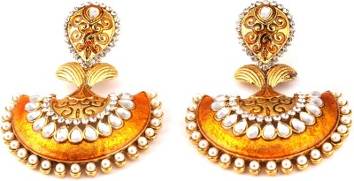 Medallion Collection Hangings Alloy Chandbali Earring