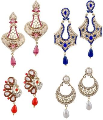 Buyclues RCCJ3422 Crystal Brass Earring Set