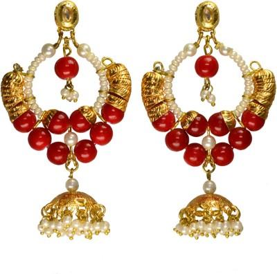 Rasaam Ramleela bead red earrings Beads Alloy Chandbali Earring