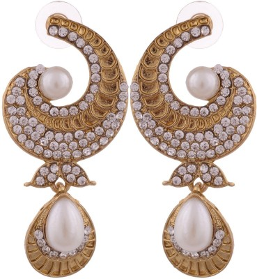 Grandiose Gold Non-Precious Metal Copper Drop Earring