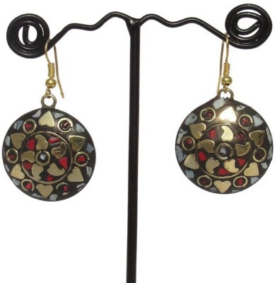 MKB Tribal Brass Dangle Earring