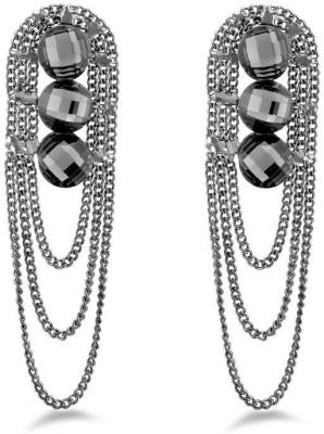 Jazz Jewellery Fancy Style Black Color Earrings For Women's Alloy Drop Earring