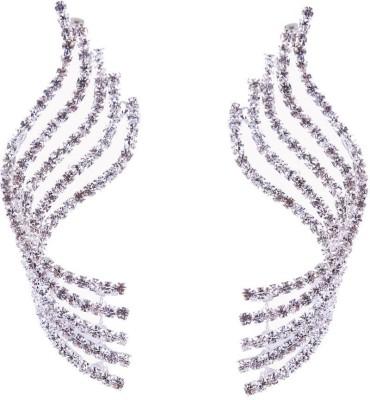 Monisha Daga Diamond Swirl Alloy Cuff Earring