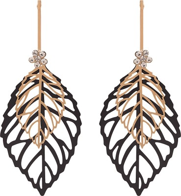 Adwitiya Collection Spring Sparkle Cubic Zirconia Copper Dangle Earring