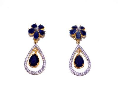 Jewels Kafe Stylish Diva Cubic Zirconia Copper Drop Earring