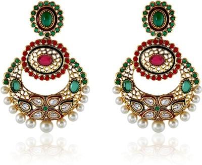Royal Bling Antique Pendent Jewel Copper Chandbali Earring